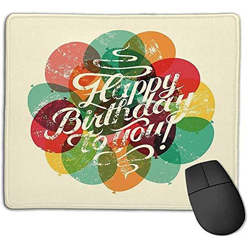 Muismat mousepadBirthday decoraties typografische retro primer verjaardagskaart geïnspireerde vintage ballonnen muismat wa