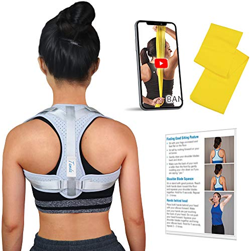 Haltungskorrektur Geradehalter für Rücken Schulter für Damen und Herren mit Widerstandsbänder, 14 Tage Evolution mit Schulterrücken-Krafttraining Video
