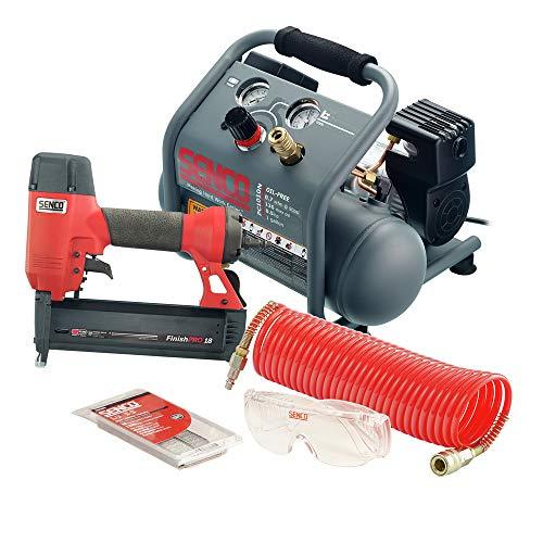 SENCO PC1343 18 Gauge Finish Nailer and 1/2 HP 1 Gallon Hand Carry Air Compressor Combo Kit