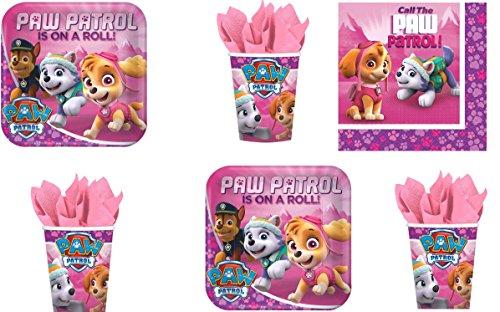 Paw Patrol - Paquete de fiesta para 16 invitados