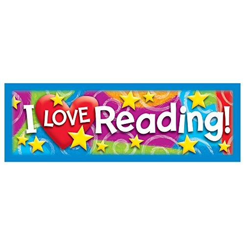 TREND ENTERPRISES, INC. I Love Reading Stars 'n Swirls Bookmarks, 36 ct