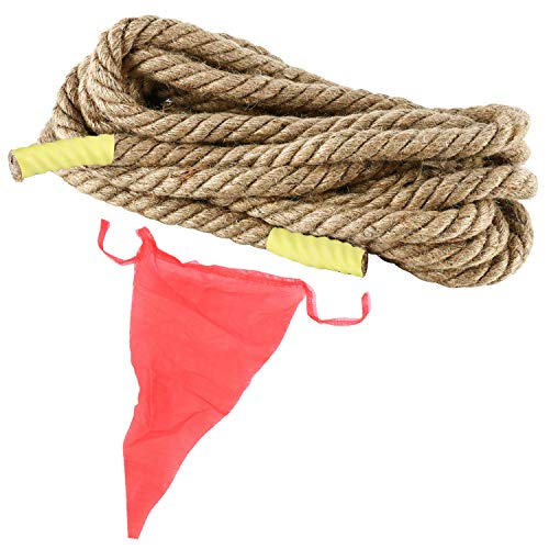 Yaegoo 18MM 75.5FT TUG of WAR Rope for Kids and Adults Family Game,Team Building,Soft Rope,Professional Long Lasting,Extra Thick for Easier