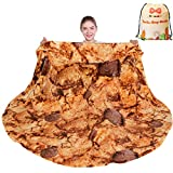 mermaker Cookie Blanket 2.0 Double Sided 71 inches for Adult and Kids, Novelty Realistic Cookie Throw Blanket, 285 GSM Soft Flannel Blanket