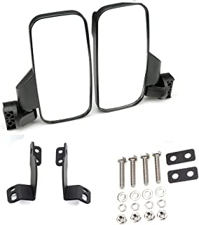 Rear View Side Folding Mirrors for 2016 2017 2018 2019 Polaris General 1000 1000-4 - Break Away w/Adjustable Arm - High Impact Shatter Proof Tempered Glass