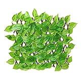 Panel de valla de privacidad de pantalla de cobertura de hojas artificiales para decoración interior al aire libre