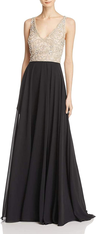 Aidan Mattox Womens FullLength Special Occasion Evening Dress
