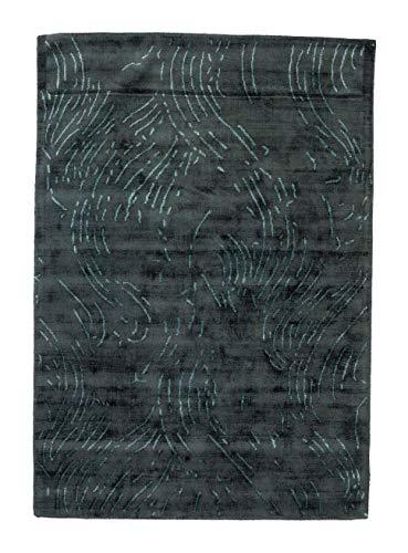 outlet Alfombra TEAL720R 100% Viscosa de Pelo Corto Color Verde Azulado 160x230 cm
