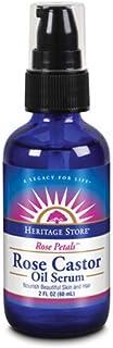 HERITAGE STORE Rose Castor Oil Serum, Oil, Rose (Btl-Glass)   2oz