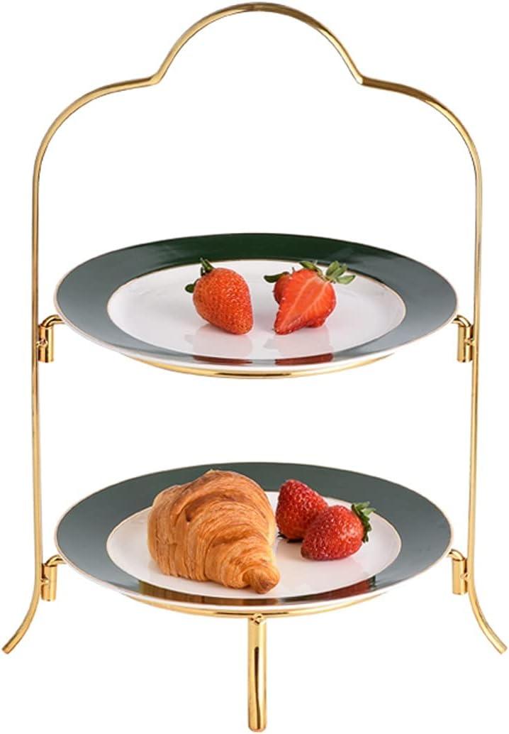 Cupcake Holder 2-layer Cake OFFer Stand Ceramic Light Dessert Be super welcome T Luxury