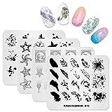 KADS Nail Art Stempelplatte Fashion Series Nail Stamping Plate Schablone Image Plate Nail Art DIY...