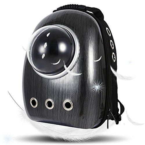 LEMONDA Portable Pet Travel Carrier,Space Capsule Pet Cat Bubble Backpack,Waterproof Traveler Knapsack for Cat and Small Dog Mutil Colors to Choose(Black)