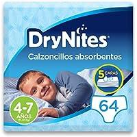 DryNites - Calzoncillos absorbentes para niño - 4-7 años (17-30 kg), 4 paquetes x 16 uds (64 unidades)