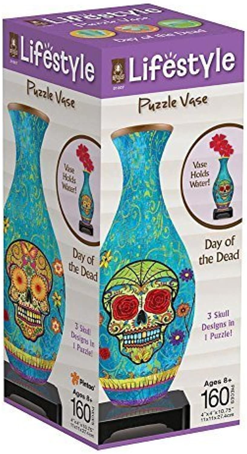 BePuzzled Vase  Day of The Dead Puzzle by University Games