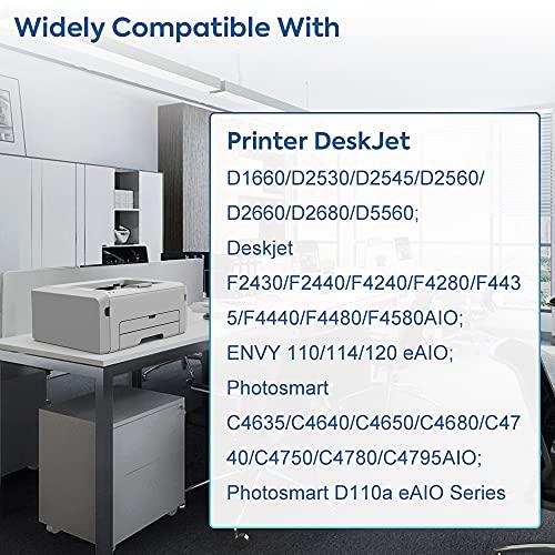 IDIAK Cartuchos de tinta 300 300XL remanufacturados compatibles con HP 300 300XL con HP Deskjet D2560 D2660 D2680 D5560 Deskjet F4240 F4280 F4480 ENVY 110 114 120 Photosmart C4640 C4650 negro+tricolor