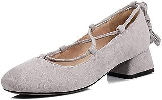 FANIMILA Women Classic Block Heel Court Shoes