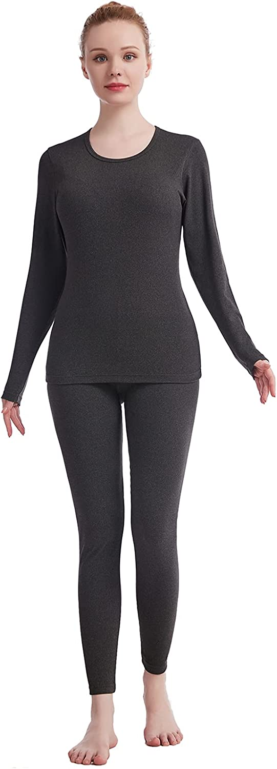Thermal Underwear for Women Crew Long Beach Mall Neck Ultra John OFFicial shop Solid Soft