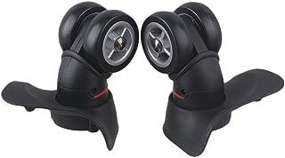 CHENZHANMAOYI Black 10.3x10.8x4.9cm Left & Right Plastic Swivel zwenkwielen met 4 Gaten for Bagage Koffer Trolley Kogelzwe...