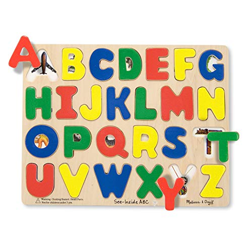 Melissa & Doug Large Wooden See Inside ABC Puzzle, 26-Piece by Melissa & Doug