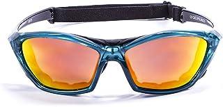 Ocean Sunglasses Lake Garda - Gafas de Sol polarizadas - Montura : Verde Transparente - Lentes : Amarillo Espejo (13001.5)