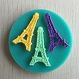 Bluelover Muffa della Torta del Silicone Torre Eiffel Fondente Mini Cioccolato Zucchero Stampo Strumento