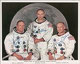 Stampa fotografica dell'equipaggio dell'Apollo 11, firmata, dimensioni: circa 30,5 x 20,3 cm