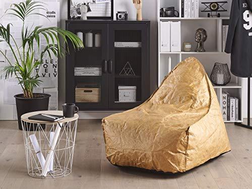 Beliani Trendy Sitzsack mit EPS Kugeln Kunststoff Gold Drop