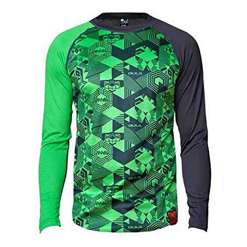 Bula Tiki Tech Crew Green XL T-Shirt pour Homme