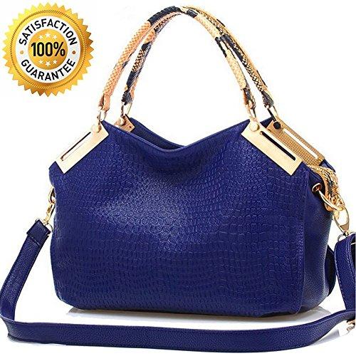 Womens Borse–Donna Ufficio Designer–Classic–Coccodrillo Borse Satchel Tote Bag in pelle PU–Borsa Crossbody