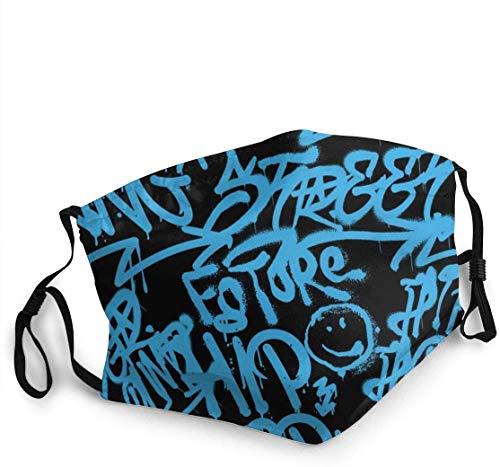ZDG Protector facial transpirable con diseño de grafiti Vandal, unisex, para deportes al aire libre, entrenamiento, color negro One_color. Talla única