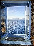 Pintura de diamantes junto al mar 5D DIY bordado de diamantes paisaje puerta punto de cruz mosaico imagen de diamantes de imitación A5 45x60cm