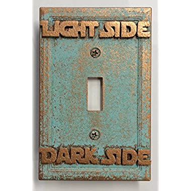 Star Wars (Light/Dark Side) Light Switch Cover (Custom) (Aged Patina)