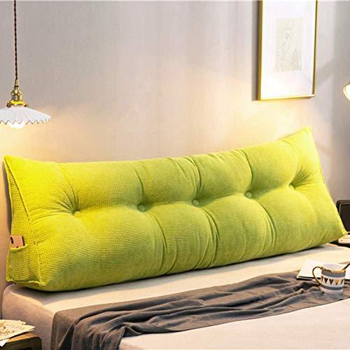 WLVG Almohada de lectura extraíble lavable para sofá cama, almohada de lectura, cabecero suave, respaldo de sofá, cojín de 80 x 20 x 50 cm