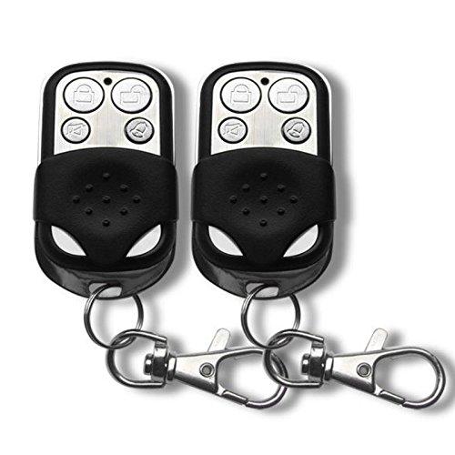 Italian Alarm - Juego de 2 mandos adicionales con protector de teclas deslizante, para alarmas de hogar inalámbricas modelos M2BX y M2, 433MHz, GSM