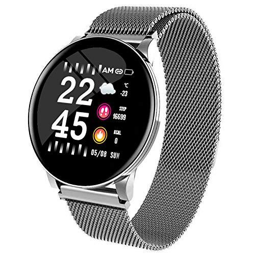 Shengyaju W8 Smartwatch für Herren und Damen, Fitnessarmbänder, Herzfrequenzmesser, IP67, wasserdicht, Sportuhr für iPhone und Android Handys