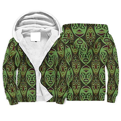 Rinvyintte 3D-Digitaldruck Fleece Hoodies Jacken mit Classic Fit für Freund Freundin oder Familie White XL