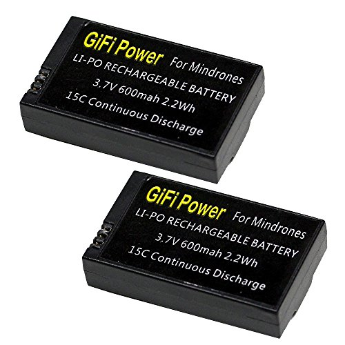 MaximalPower 2x 3.7v 600mAh Li-po Battery w/Circuit Protective IC for Parrot MiniDrones Jumping Sumo, Parrot Mini Drone Rolling Spider Upgrade two batteries