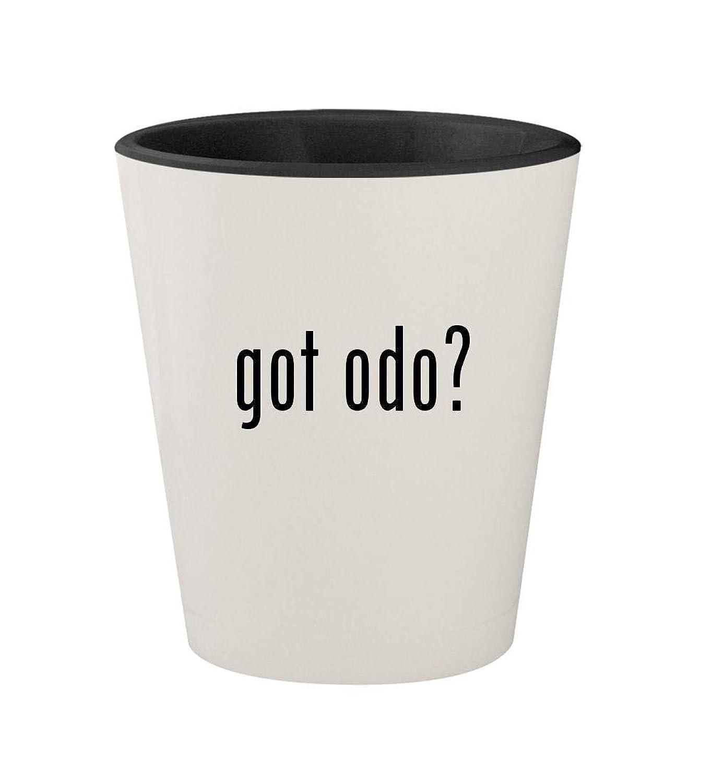 got odo? - Ceramic White Outer & Black Inner 1.5oz Shot Glass
