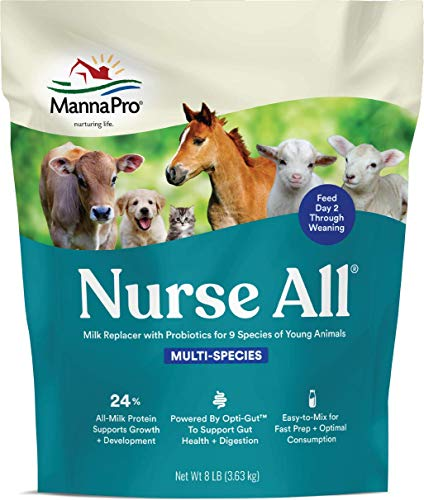 Manna Pro NurseAll Non-Medicated Milk Replacer, 8 lb