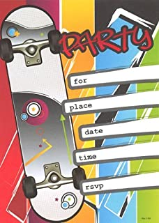 Best skateboard party invitations Reviews