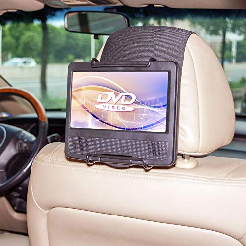 TFY Soporte para Reposacabezas de Coche para Reproductor de Estilo Giratorio DVD Portable de 7-10 Pulgadas y iPad Pro