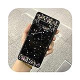 元豊14342cキラキラ電話ケースfor Samsung Galaxy Note 10 Pro S20 Plus S10 S9 Plus A20 A30 A50 A70エポキシクリアソフトTPUバックカバー-Black 1-for Samsung S9 Plus