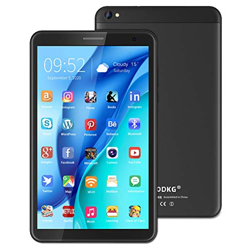 Android 10 Tablets 8 Inch Tablet PC 32GB ROM,3GB RAM,5MP Rear Camera,Quad-Core Processor,5000mAh long battery life,1280*800 HD IPS Screen Wifi,Bluetooth,Google Play.(black)