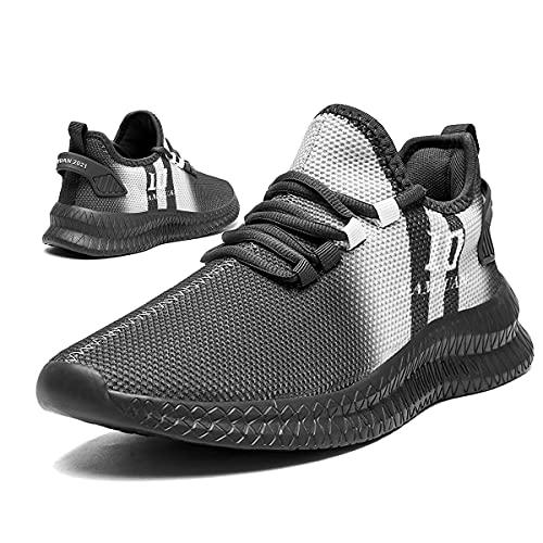 Tvtaop Zapatos para Hombre Zapatillas de Running Sneakers Hombre Ligero Transpirables Entrenadores Casual Zapatos Gimnasio Correr Zapatillas De Deporte Atléticos