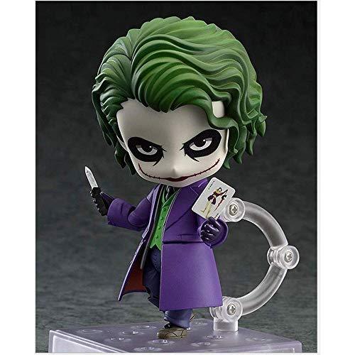 YYZZ Batman Dark Knight Clown Joker Nendoroid Action-Figur Über 4 Zoll - Home Car Decoration - Kindergeburtstagsgeschenk Sammlung Spielzeug