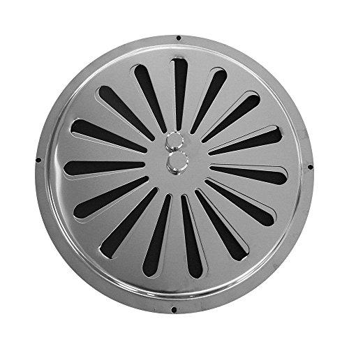 Kreisförmiges Reguliertes Lüftungsgitter aus Edelstahl, mit Einem Durchmesser von 17,5 cm