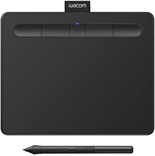 "Wacom Intuos Wireless Graphic Tablet, with 2 Free Creative Software downloads, 7.9""x6.3"", Black, (CTL-4100WL/K0-CX)"