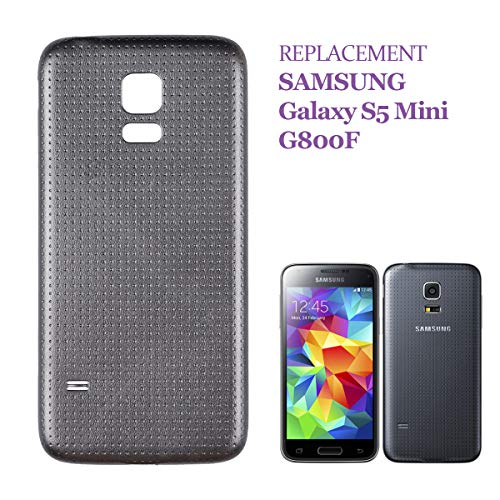 swark Akku Deckel Backcover Kompatibel mit Samsung Galaxy S5 Mini SM-G800F Schwarz Akkudeckel
