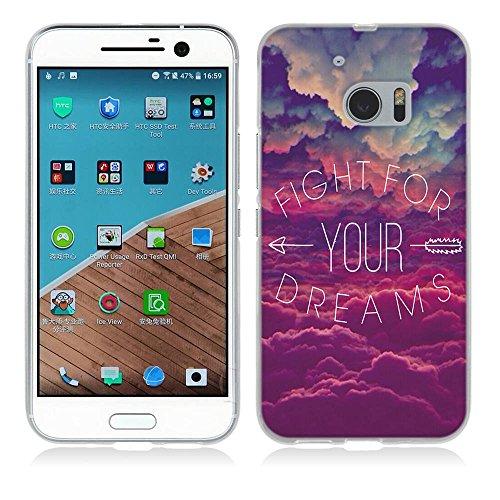 HTC One M10 Hülle, Fubaoda Geflügeltes Wort Stil TPU Case Schutzhülle Silikon Case für HTC One M10