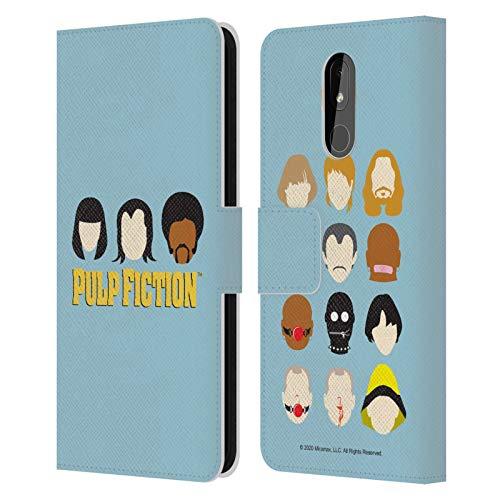 Head Case Designs Licenza Ufficiale Pulp Fiction Facce Arte Cover in Pelle a Portafoglio Compatibile con Nokia 3.2
