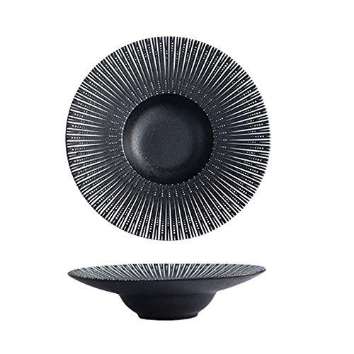 Platos de postres de cerámica redondos para servir platos de porcelana para cocina, restaurante, banquete y uso diario, C